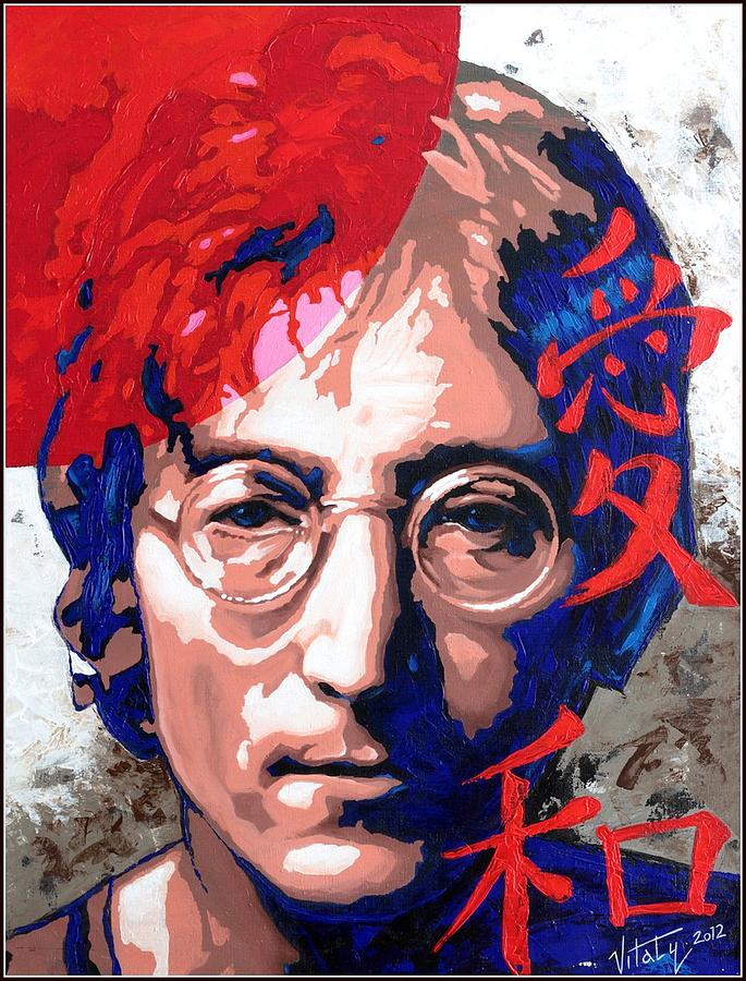 Portrait Painting - John Lennon - A Man Of Peace. The Number Three. by Vitaliy Shcherbak