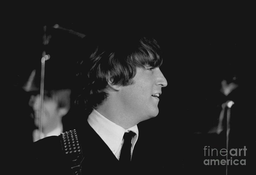 Beatles Photograph - John Lennon, Beatles Concert, 1964 by Larry Mulvehill