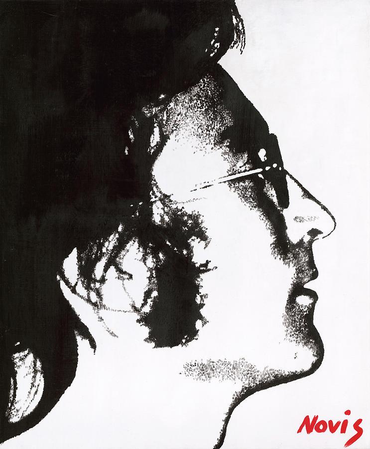 John Lennon Painting - John Lennon Bw by Barry Novis