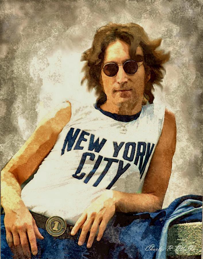 Artist Painting - John Lennon by Charles Ott