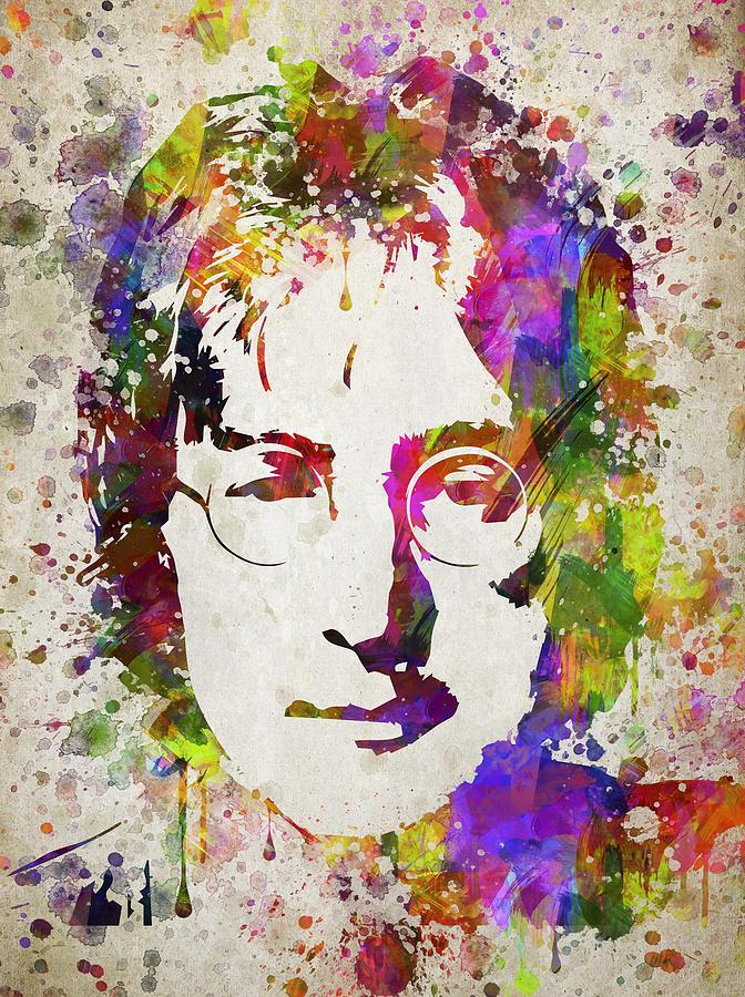 John Lennon Digital Art - John Lennon in Color by Aged Pixel