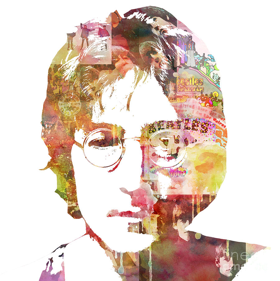 Beatles Painting - John Lennon by Mike Maher