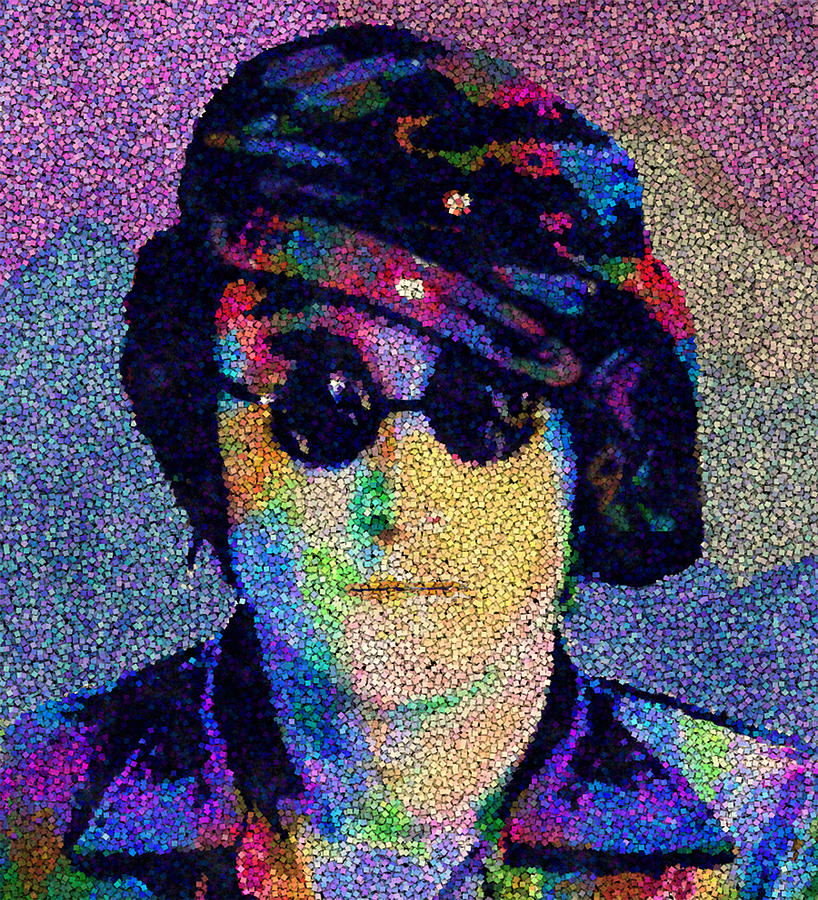 John Winston Ono Lennon Painting - John Lennon Mosaic by Jack Zulli