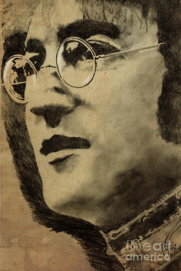 John Lennon Portrait Drawing