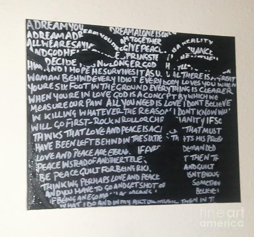 John Lennon Quotes Painting By Neil Roberts