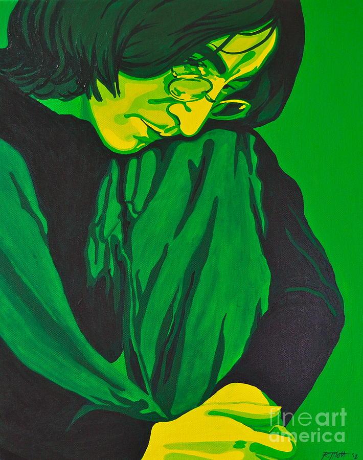 John Painting - John Lennon by Rebecca Mott
