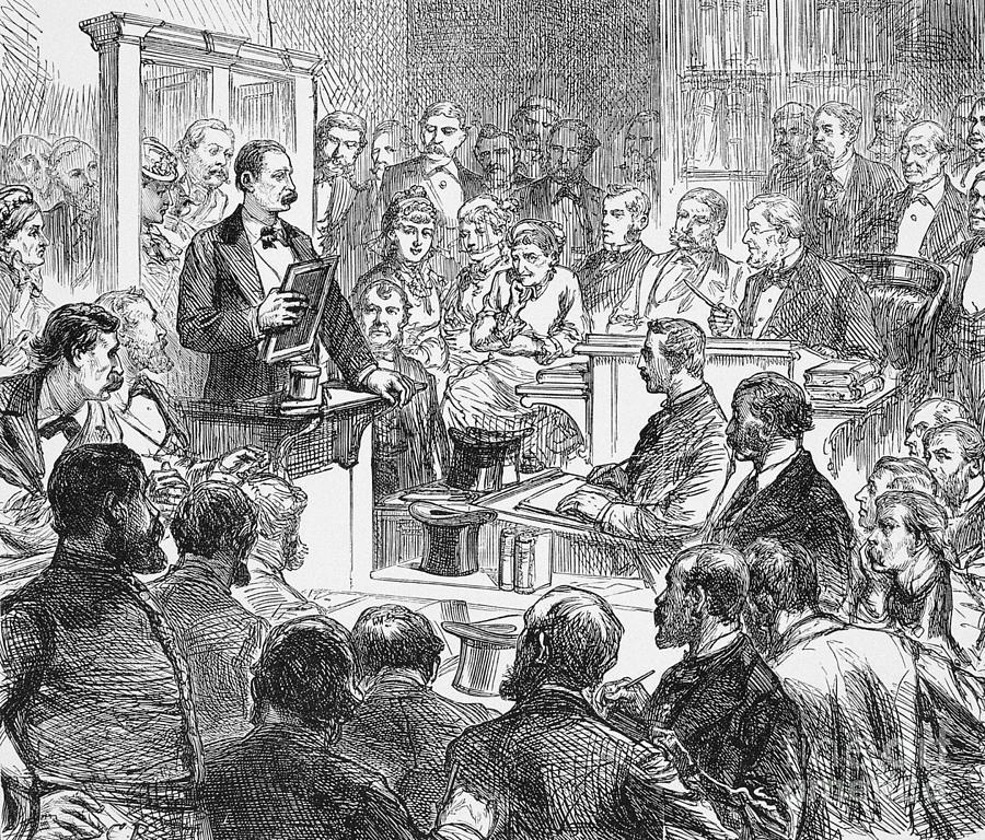 1876 Drawing - John Maskelyne by Granger