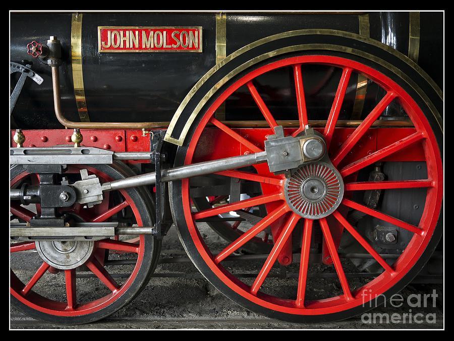 Train Photograph - John Molson Steam Train Locomotive by Edward Fielding