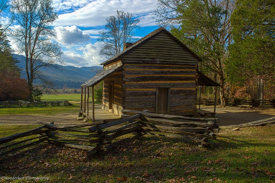 Cades Cove Photograph - John Oliver Cabin Cades Cove Tn by Paul Herrmann