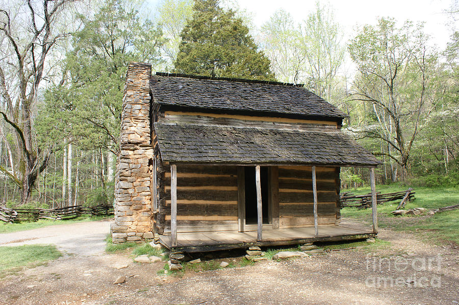 Log Cabin Photograph - John Oliver Place In Cades Cove by Roger Potts