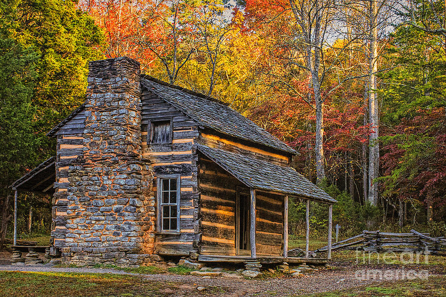 Genial Cades Cove Photograph   John Olivers Cabin In Great Smoky Mountains By  Priscilla Burgers