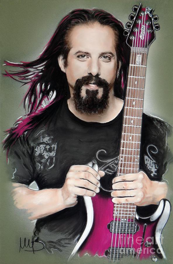 John Petrucci Mixed Media - John Petrucci by Melanie D