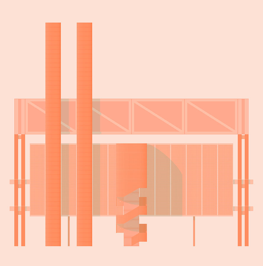 Architecture Digital Art - John Player Factory by Peter Cassidy