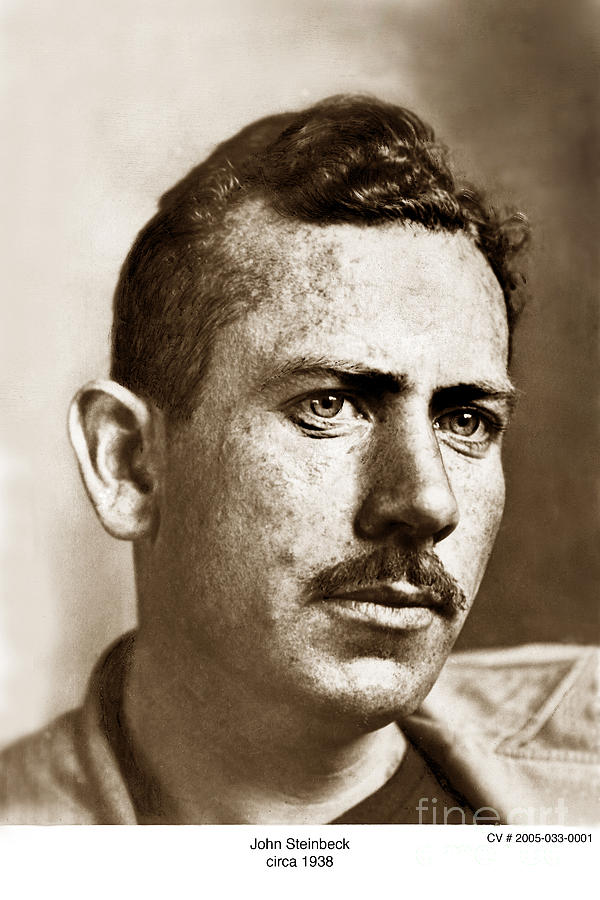 John Steinbeck Photograph - John Steinbeck American Author Circa 1938 by California Views Mr Pat Hathaway Archives