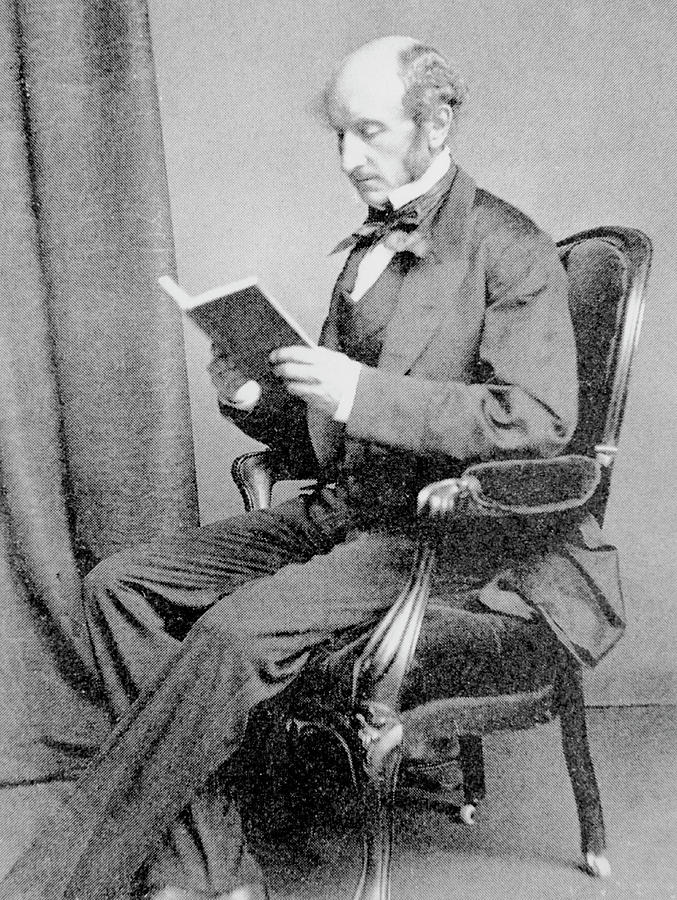 Mill Photograph - John Stuart Mill by Science Photo Library