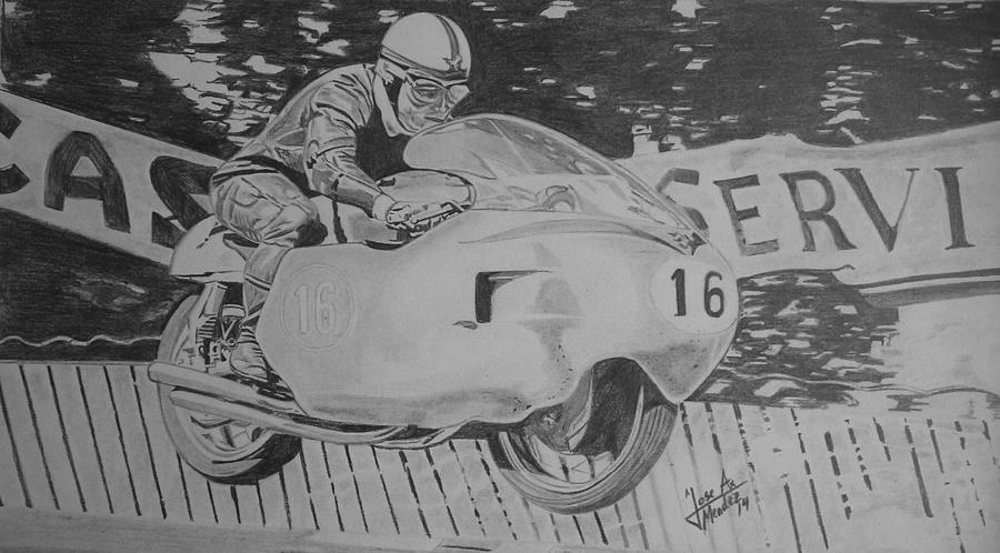 John Surtees Drawing by Jose Mendez