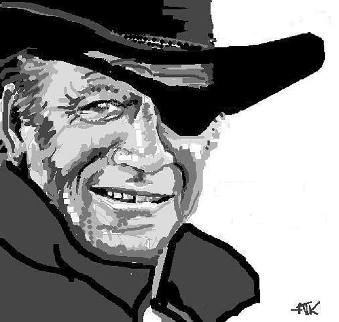 John Wayne Digital Art - John Wayne by Ann Kipp