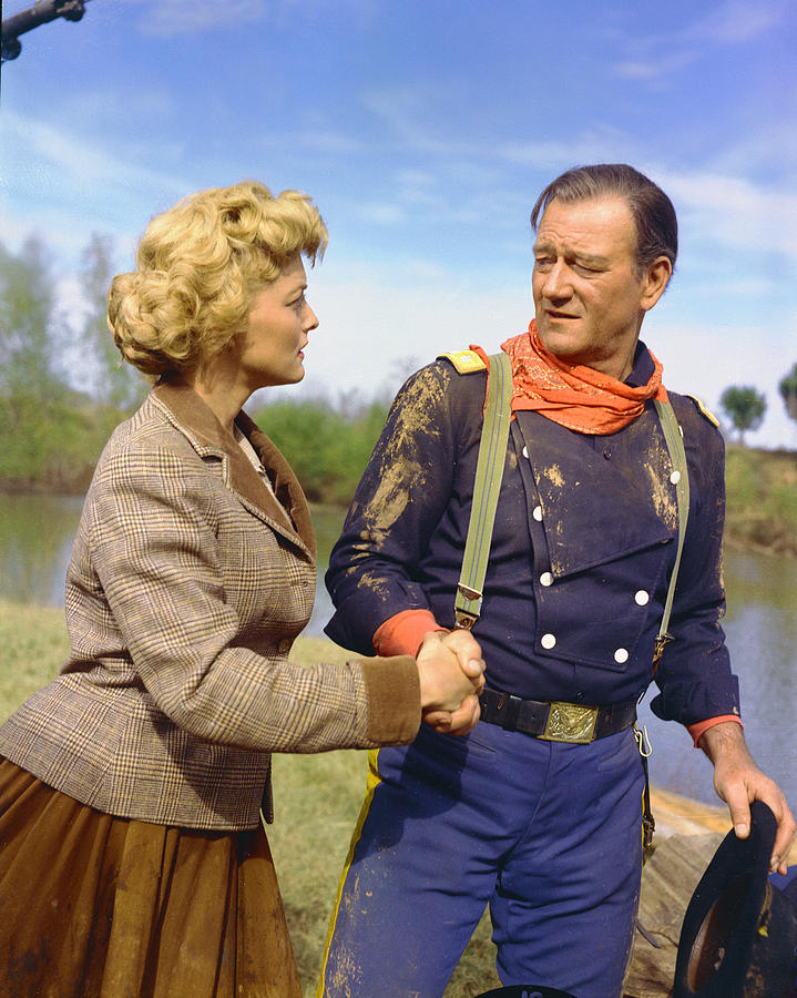 The Horse Soldiers Photograph - John Wayne In The Horse Soldiers by Silver Screen