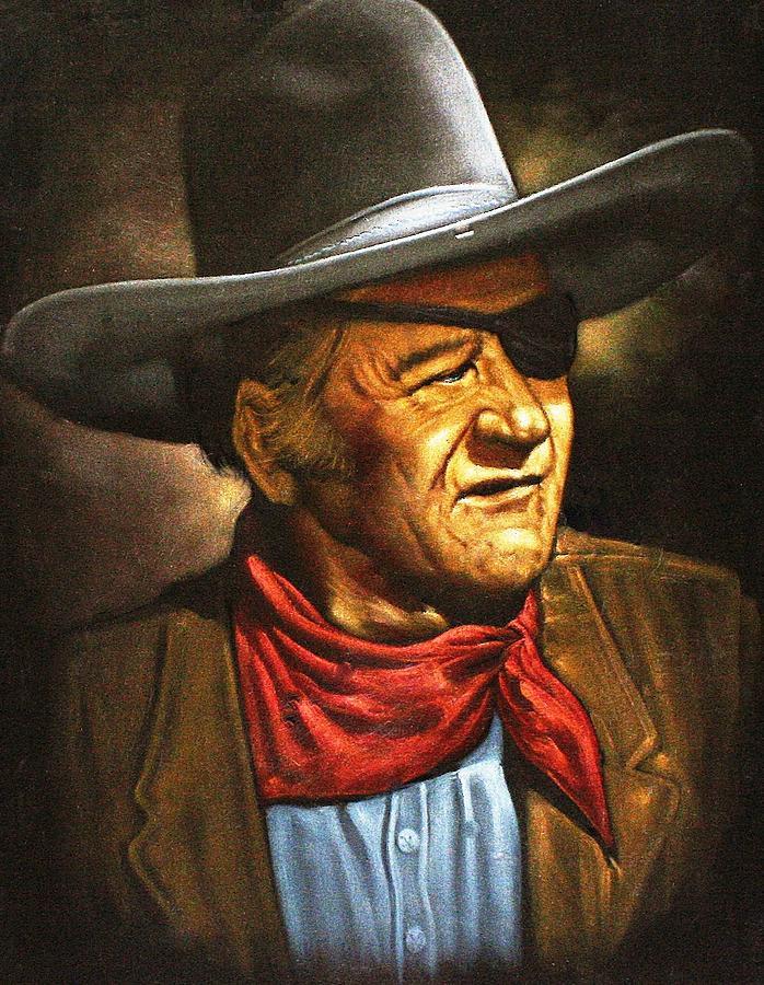 John Wayne Painting - John Wayne by Larry Stolle