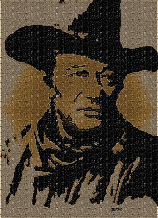 John Wayne Painting - John Wayne Lives by Robert Margetts
