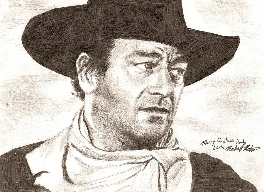 John Wayne Digital Art - John Wayne by Michael Mestas