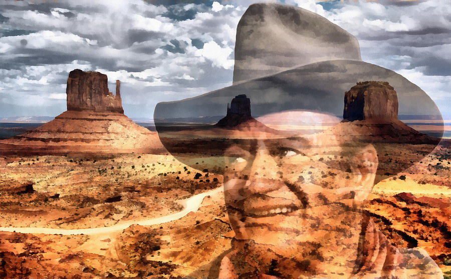 West Digital Art - John Wayne Monument Valley by Lester Phipps