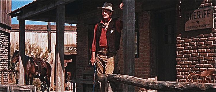 John Wayne Porch Of His Sheriffs Office Rio Bravo 1959 Old Tucson Arizona-2013 Photograph by David Lee Guss