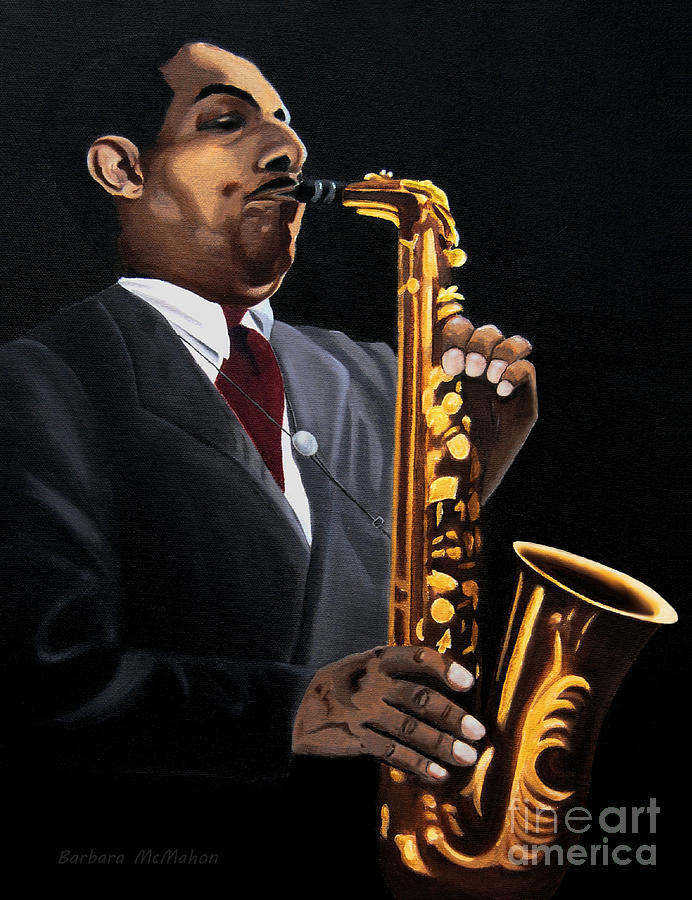 Johnny Hodges Painting - Johnny And The Sax by Barbara McMahon