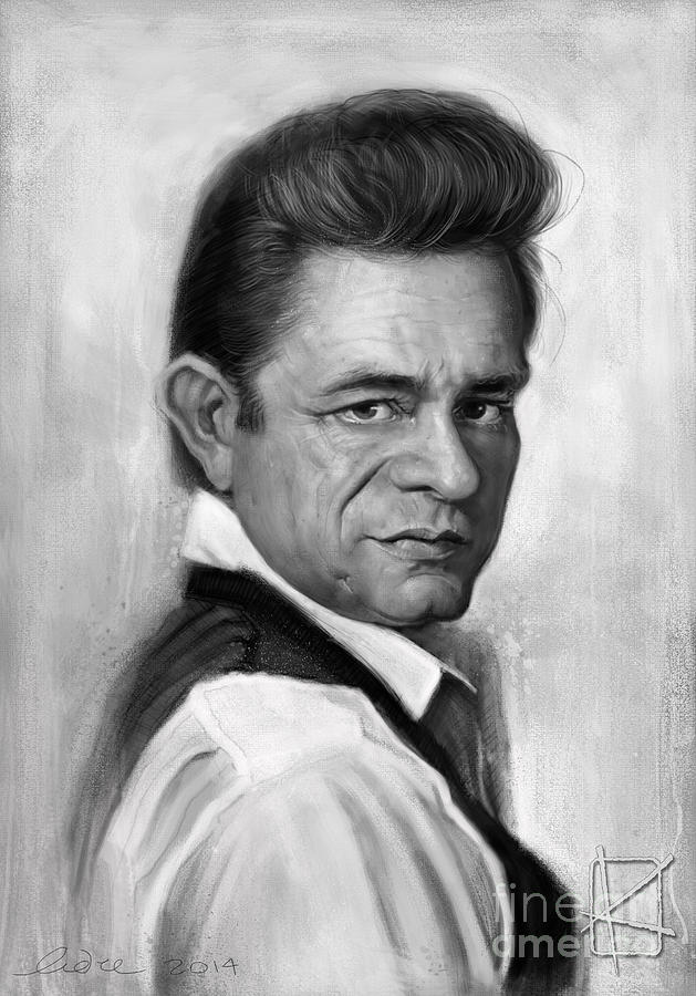 Johnny Cash Digital Art - Johnny Cash by Andre Koekemoer