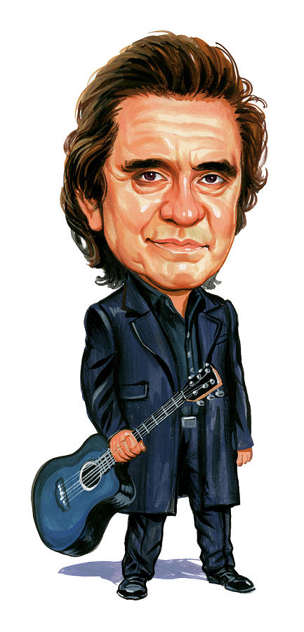 Johnny Cash Painting - Johnny Cash by Art