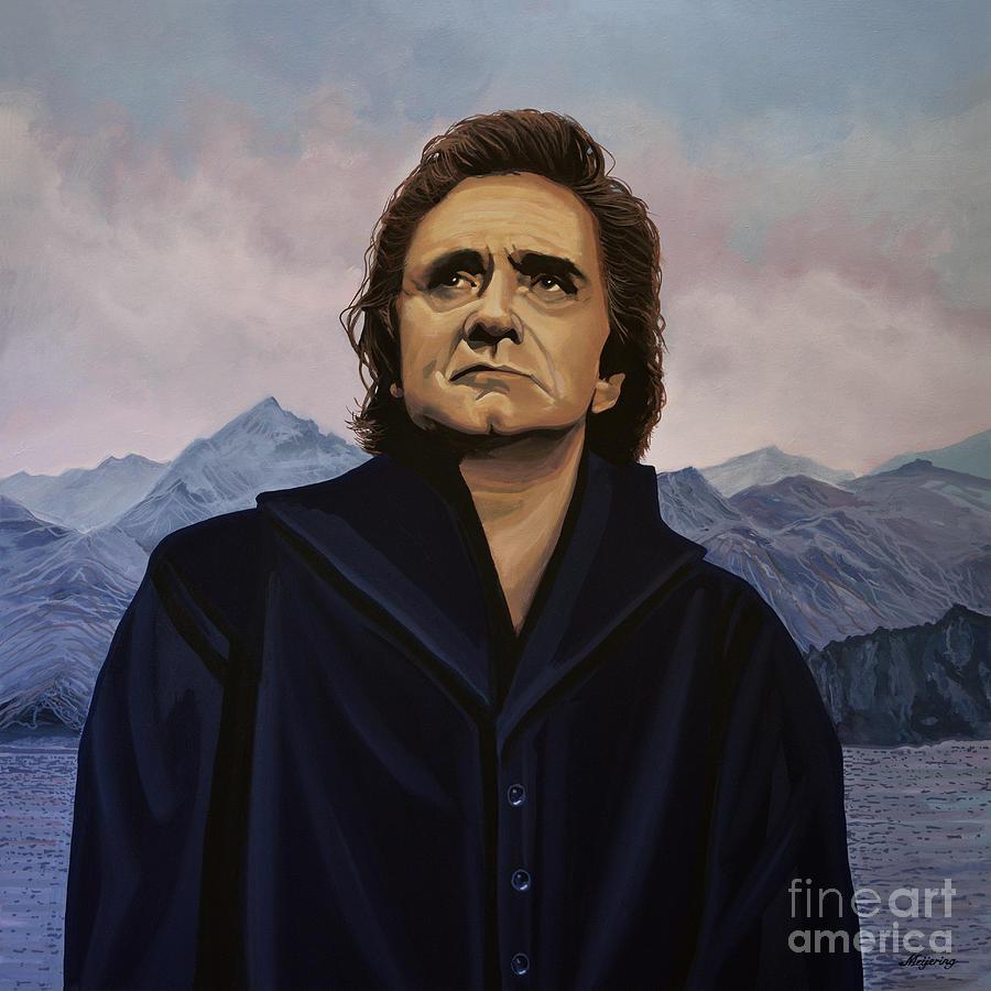Johnny Cash Painting - Johnny Cash Painting by Paul Meijering