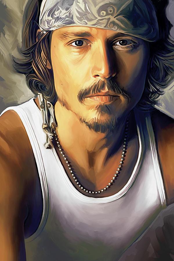 Johnny Depp Paintings Painting - Johnny Depp Artwork by Sheraz A