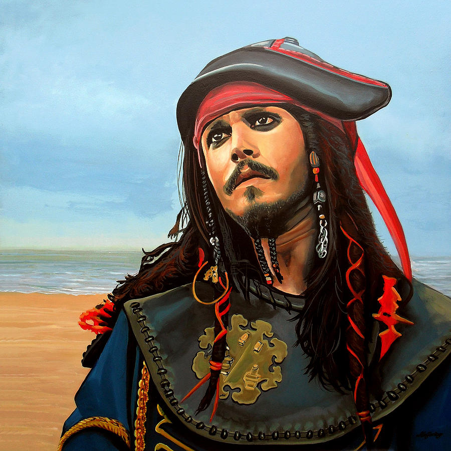 johnny depp as jack sparrow painting by paul meijering