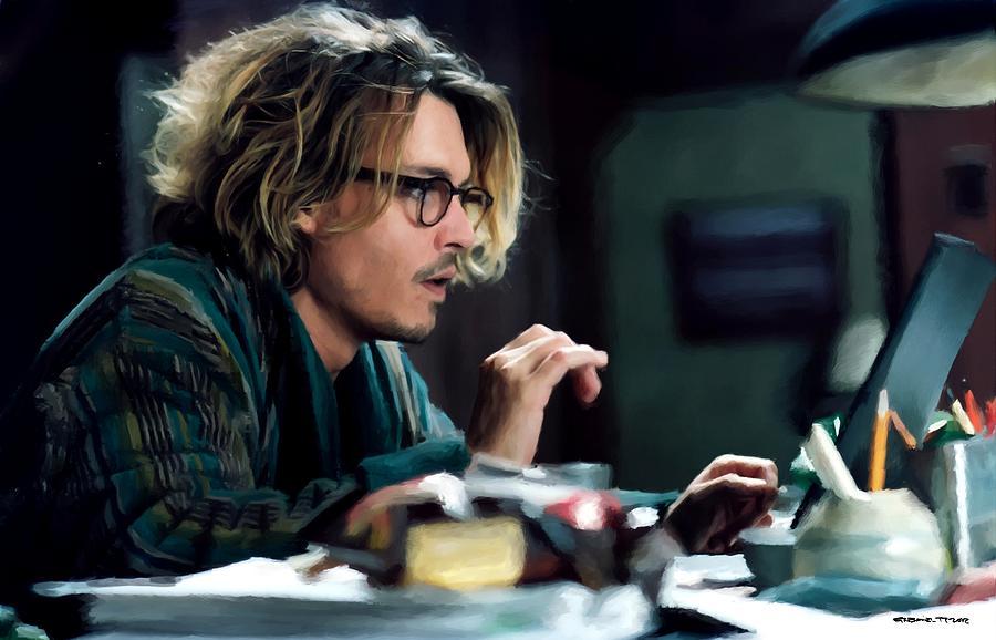 Johnny Depp Digital Art - Johnny Depp as Mort Rainey @ Secret Window by Gabriel T Toro