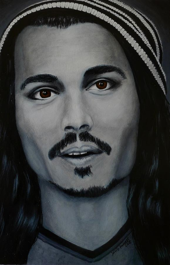 Film Painting - Johnny Depp by David Hawkes