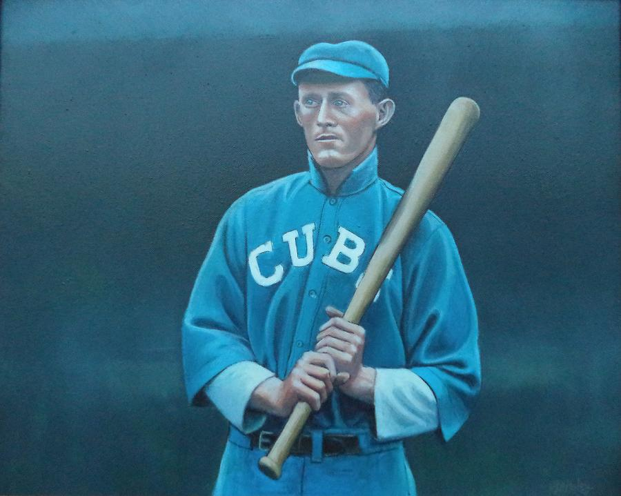 Chicago Painting - Johnny Evers by Mark Haley