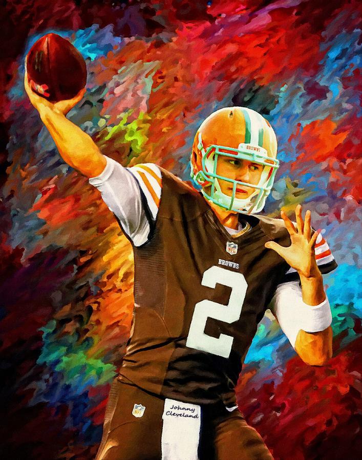 Johnny Manziel Cleveland Browns Football Art Painting