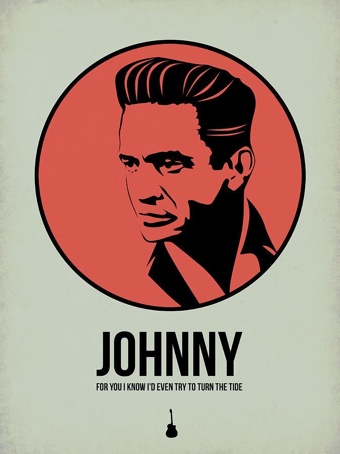 Music Digital Art - Johnny Poster 2 by Naxart Studio