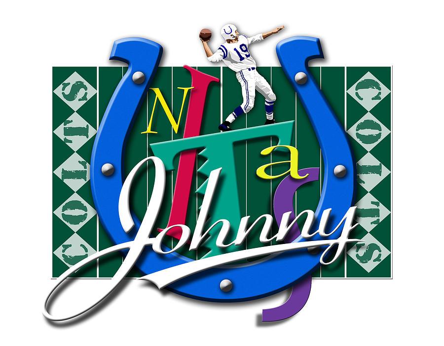 Johnny Unitas Digital Art - Johnny Unitas Baltimore Colts by Ron Regalado