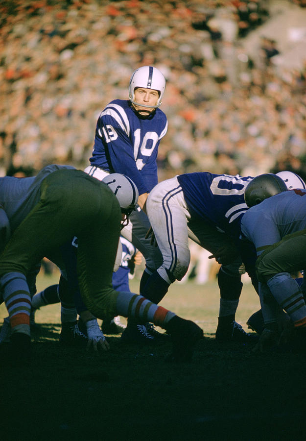 Marvin Newman Photograph - Johnny Unitas Ready  by Retro Images Archive