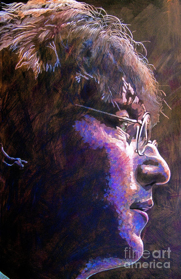 John Lennon Painting - Johnny We Miss You by David Lloyd Glover