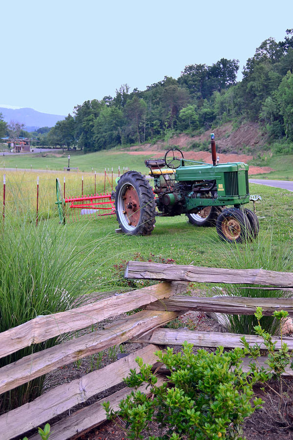 Tractors Photograph - Johns Green Tractor by Larry Bishop