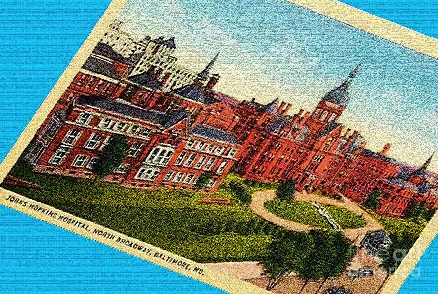 Baltimore Photograph - Johns Hopkins Post Card by Jost Houk