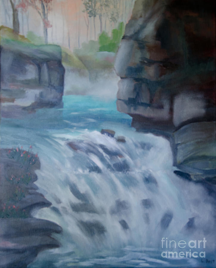 Johnston Canyon Painting - Johnston Canyon by Laurel Best