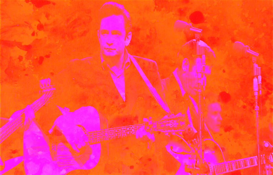 Johnny Cash Digital Art - Johny Cash 3 by Brian Reaves