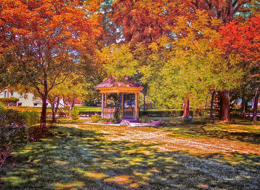 Gazebo Photograph - Join Me In The Gazebo On This Beautiful Autumn Day by Thomas Woolworth