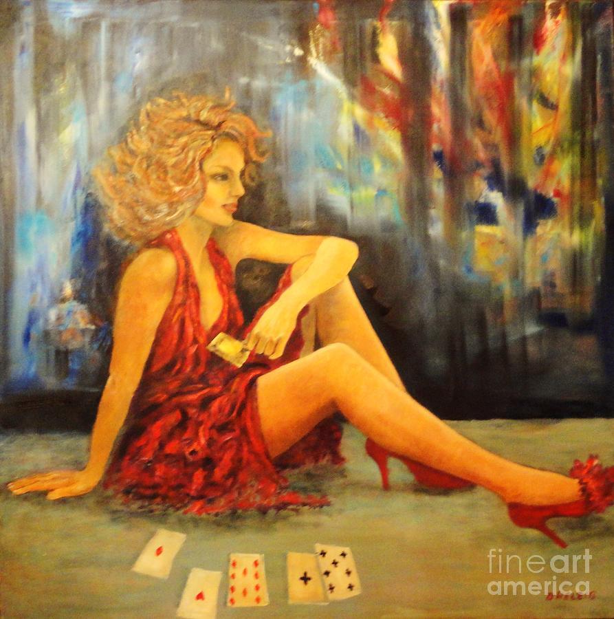 Dress Painting - Joker 4 by Dagmar Helbig