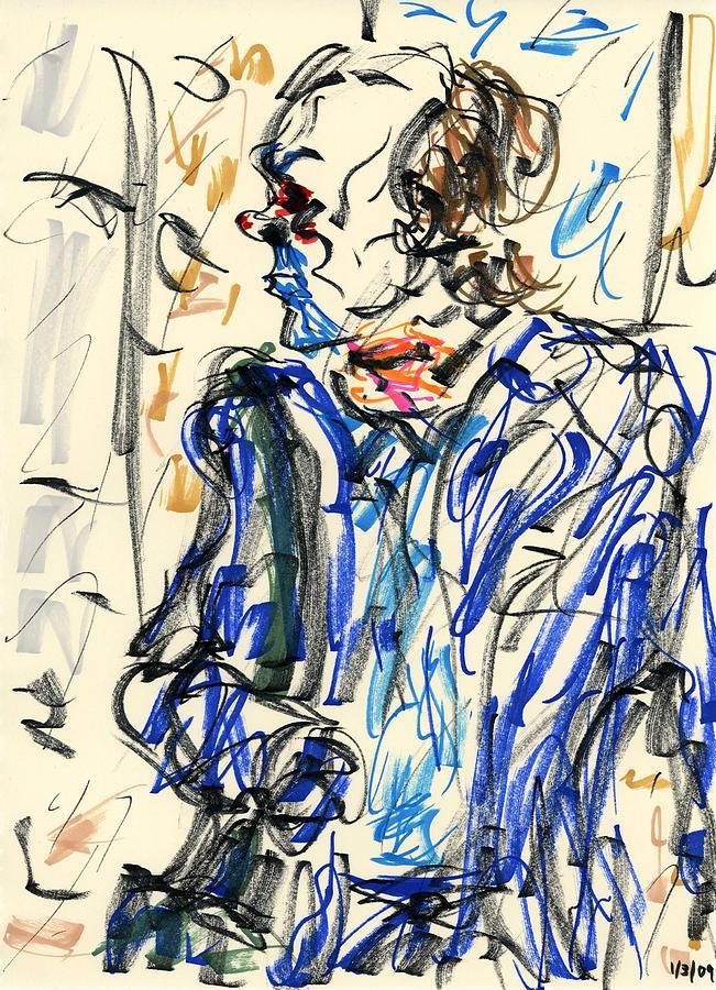 Joker Drawing - Joker - Bozo by Rachel Scott