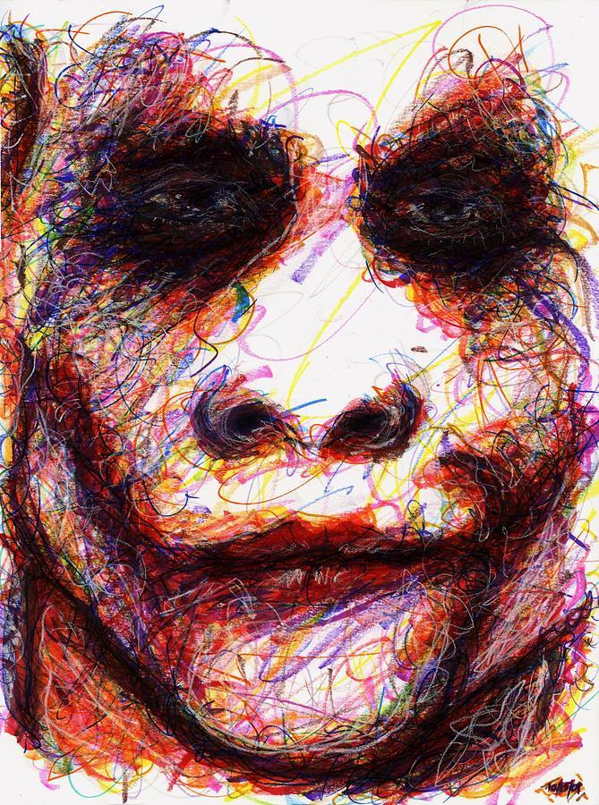 Joker - Eyes Drawing by Rachel Scott