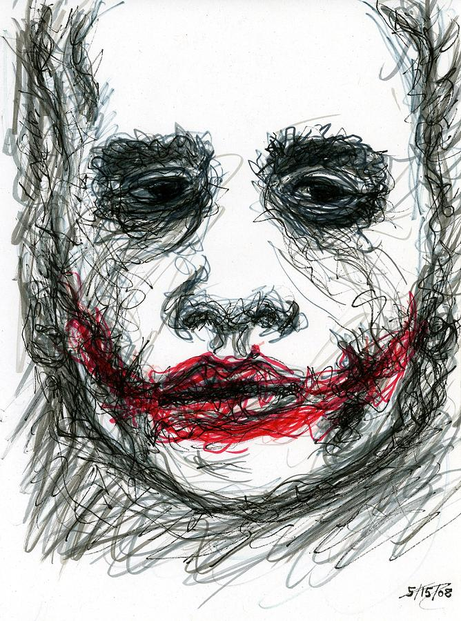 Joker Drawing - Joker - Not All Jokes Are Funny by Rachel Scott